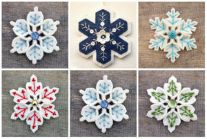 Разновидности новогодних снежинок