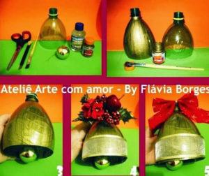 колокольчики из бутылок к новому году