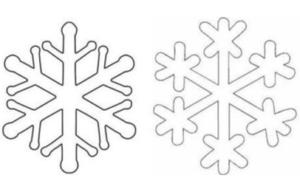 Схемы для изготовления снежинок