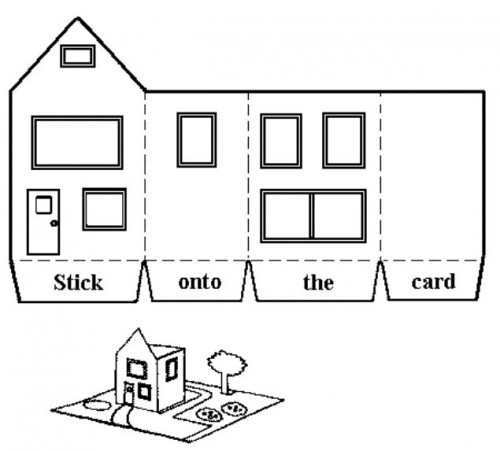 шаблоны картонных домиков