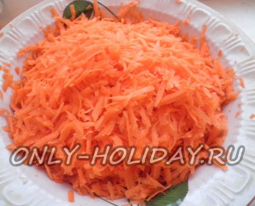натереть морковь
