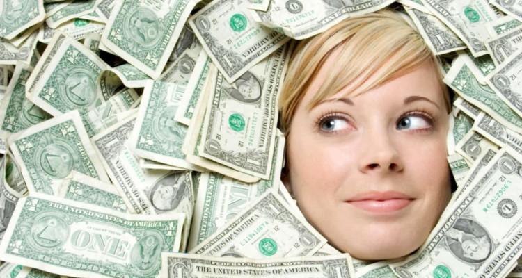 лицо в деньгах