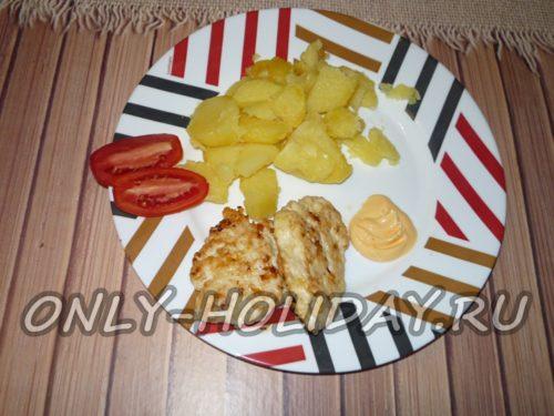 готовые оладьи из филе