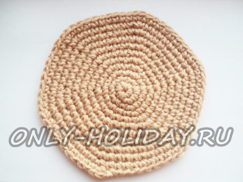 вяжем кольцо из песочных ниток