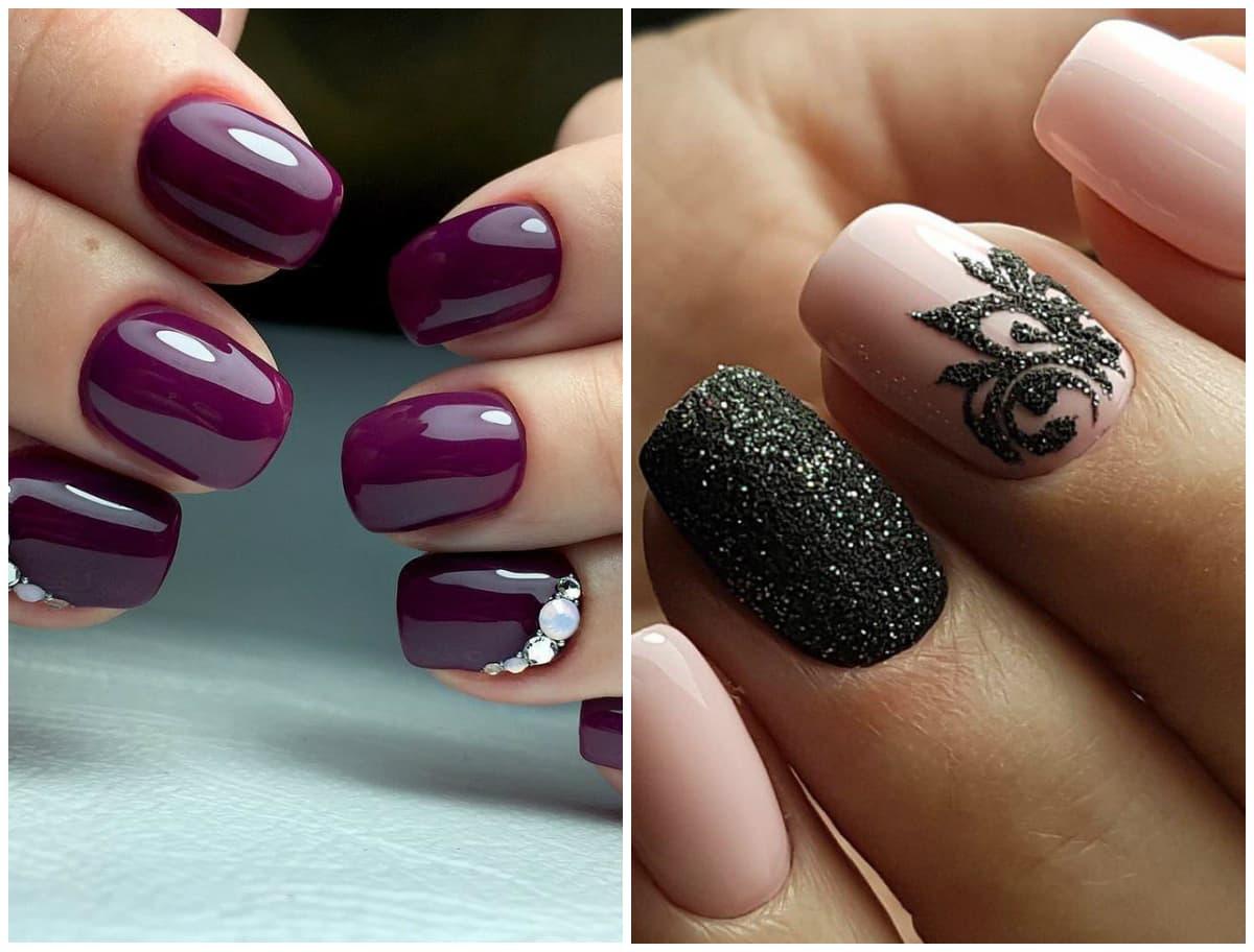 Довольно эффектно будут выглядеть ногти с темными насыщенными цветами, всеми оттенками красного.