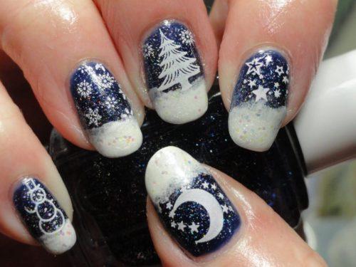 Елочки, снеговики