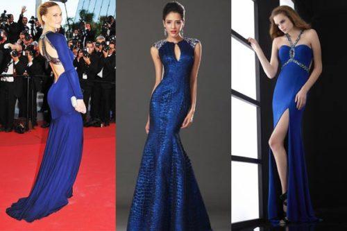 Синий цвет платьев