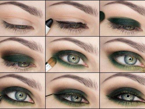 Вариант 2 макияжа для зеленых глаз