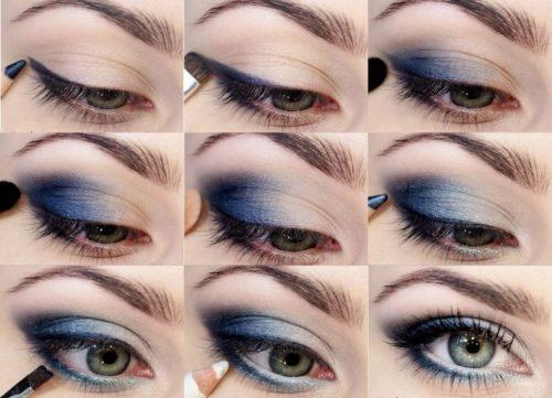 Пример макияжа на Новый год