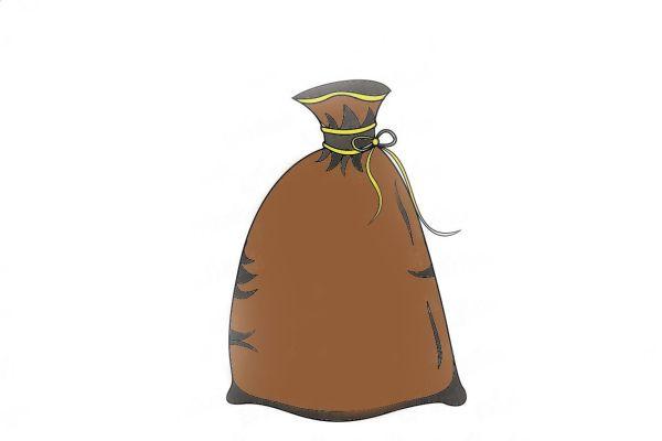 Мешок, перевязанный веревочкой