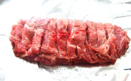 Возьмем цельный кусок мяса