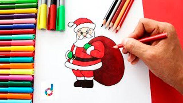 Как научиться рисовать мешок с подарками на Новый год 2019 поэтапно
