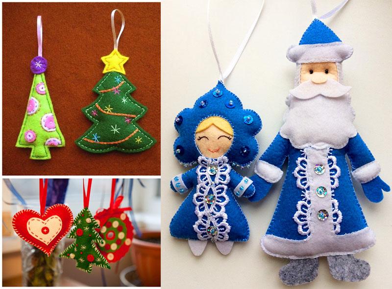 Дед Мороз и Снегурочка из фетра своими руками