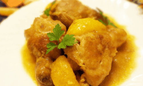Куриные ножки в мандариновом соусе