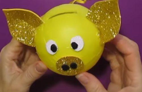 Поделка Символ года Желтая Свинья