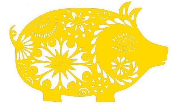 Свинка с узором