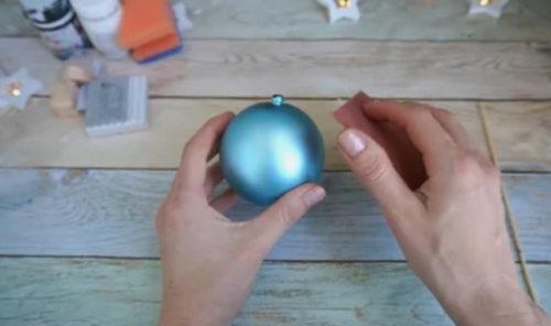 Зашкурить шарик