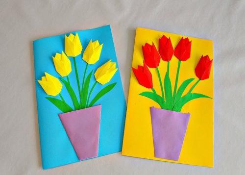 объемные тюльпаны