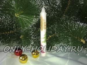 Новогодняя свеча своими руками: экспресс-вариант