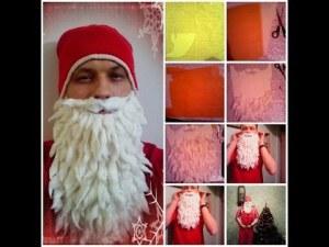 Борода Деда Мороза из ваты