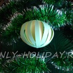 Новогодний шар из бумаги на елку