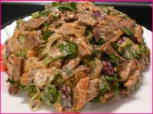 Салат с печеью