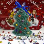 Вязаная крючком елка к Новому году