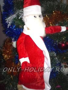 Чехол «Дед Мороз» на бутылку шампанского своими руками