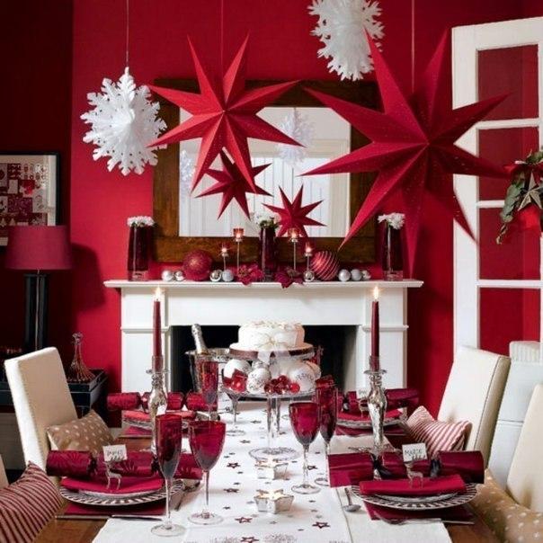 Красивые украшения для комнаты на новый год