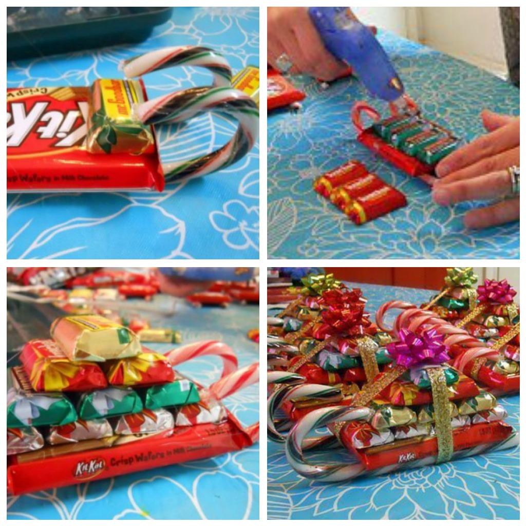 Новогодние сладкие подарки сани 5059