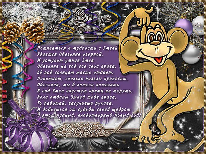 Поздравления на год обезьяны прикольные
