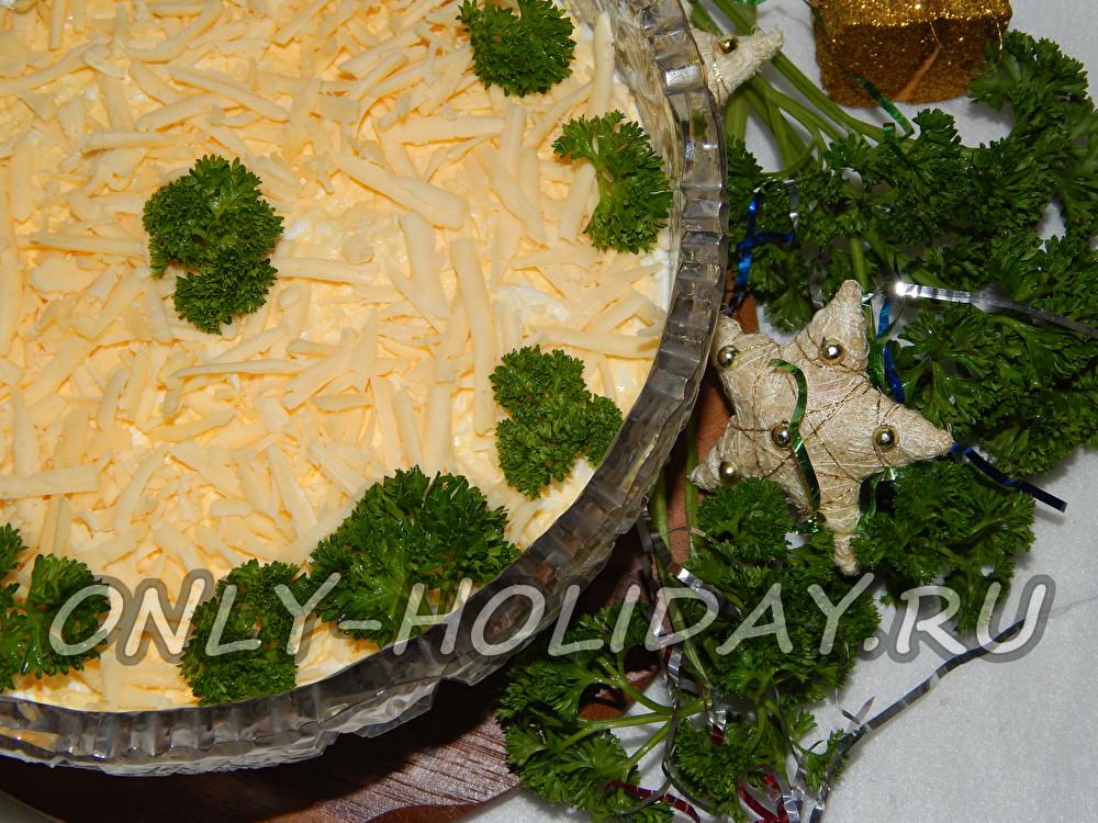 салат мимоза рецепт с консервой с сыром и маслом