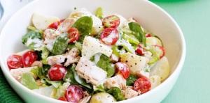 Рецепт салата с тунцом и яйцом
