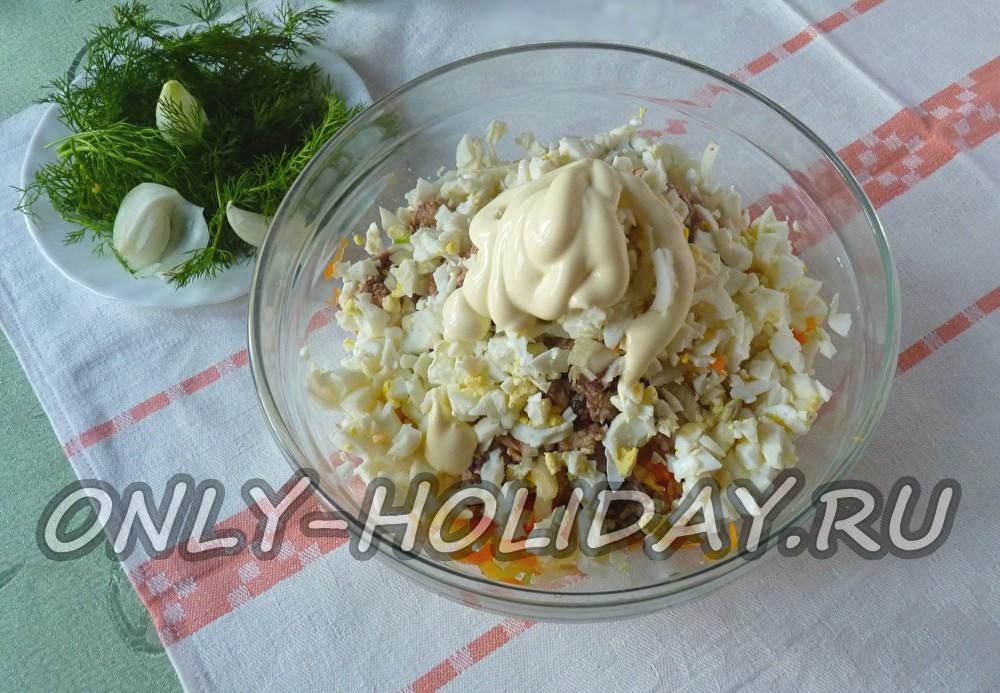 Мимоза с сайрой и сыром рецепт с пошагово 189