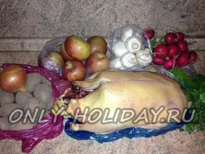 ингредиенты для приготовления утки с яблоками
