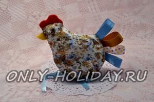 Пасхальная курочка на яйцо