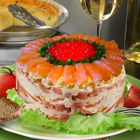 салат с сёмга и фото
