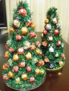 Подарки на новый год из сладостей своими
