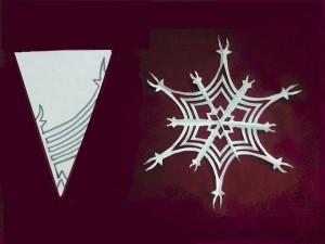 красивая снежинка из бумаги