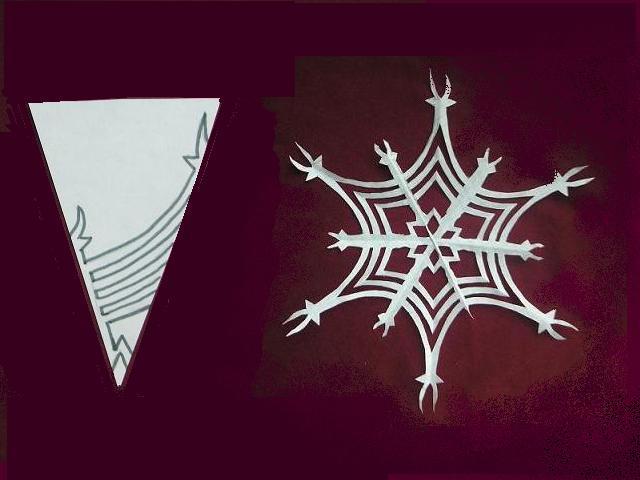 Сделать снежинки 3д иОбъемная С предсказаниями своими