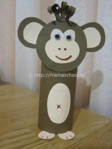 обезьянка из картона5