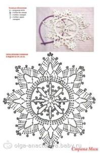 снежинка крючком схема с описанием