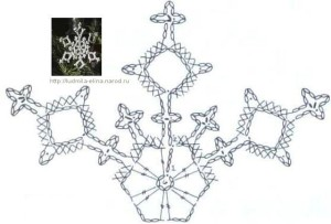 снежинка крючком схема фото