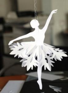 трафарет балерины снежинки