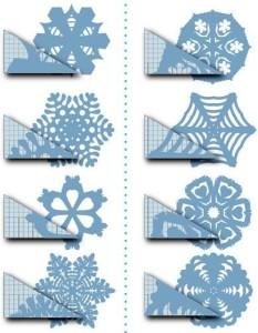 схема вырезания снежинки