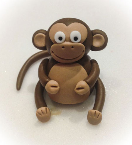 теста Слепить обезьяну из