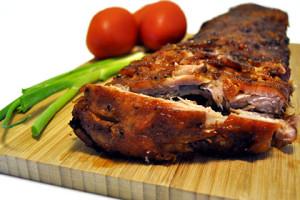 Запечённое мясо в глинтвейне