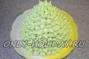 Оформление торта «Елочка» кремом на Новый год