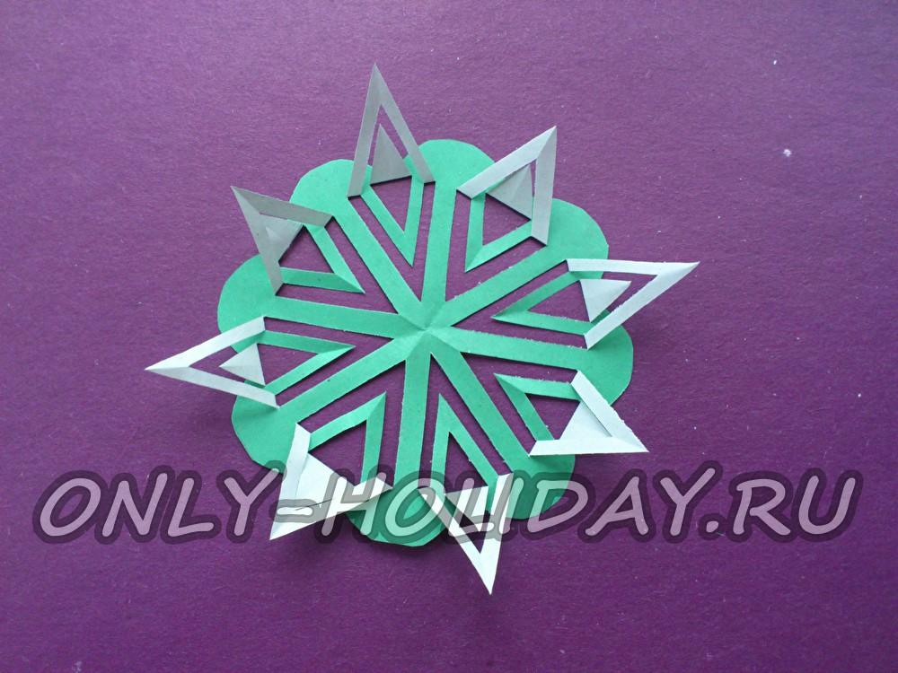 Схемы объемных снежинок своими руками фото 409