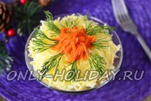 Салат с курицей и корейской морковью, рецепт с фото